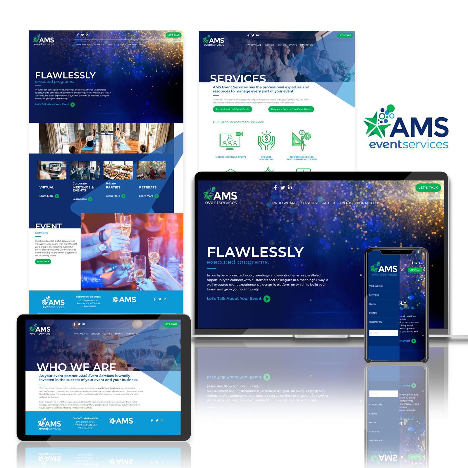 AMS Event Services Website Design